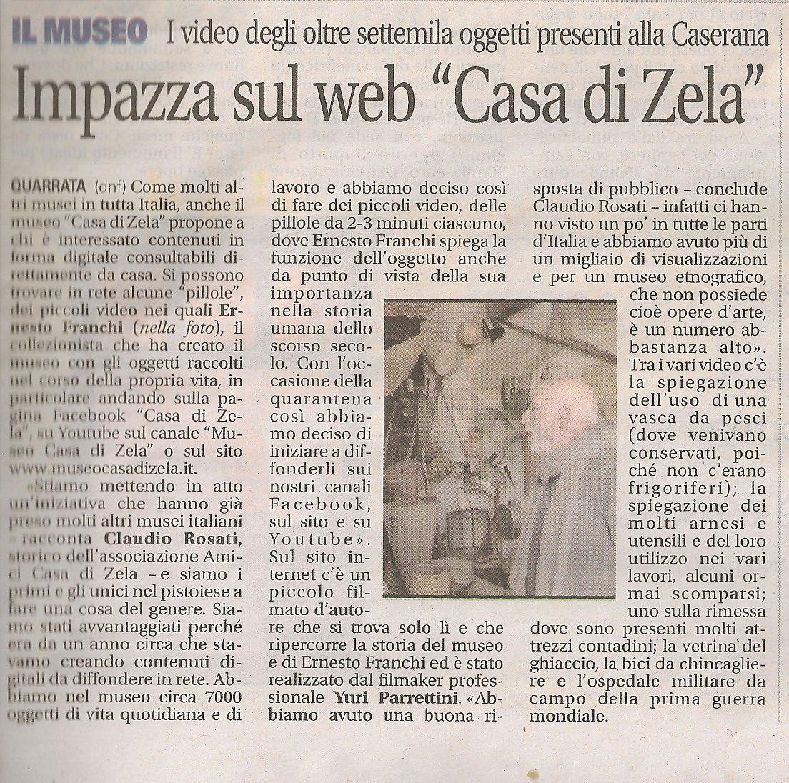 """Impazza sul web """"Casa di Zela"""""""